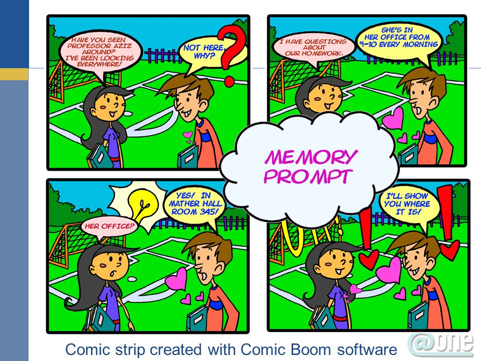 Comic strip created with Comic Boom software