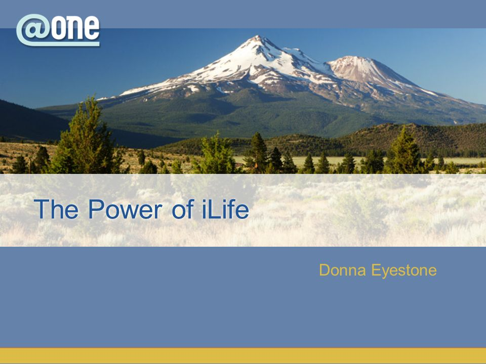Donna Eyestone The Power of iLife