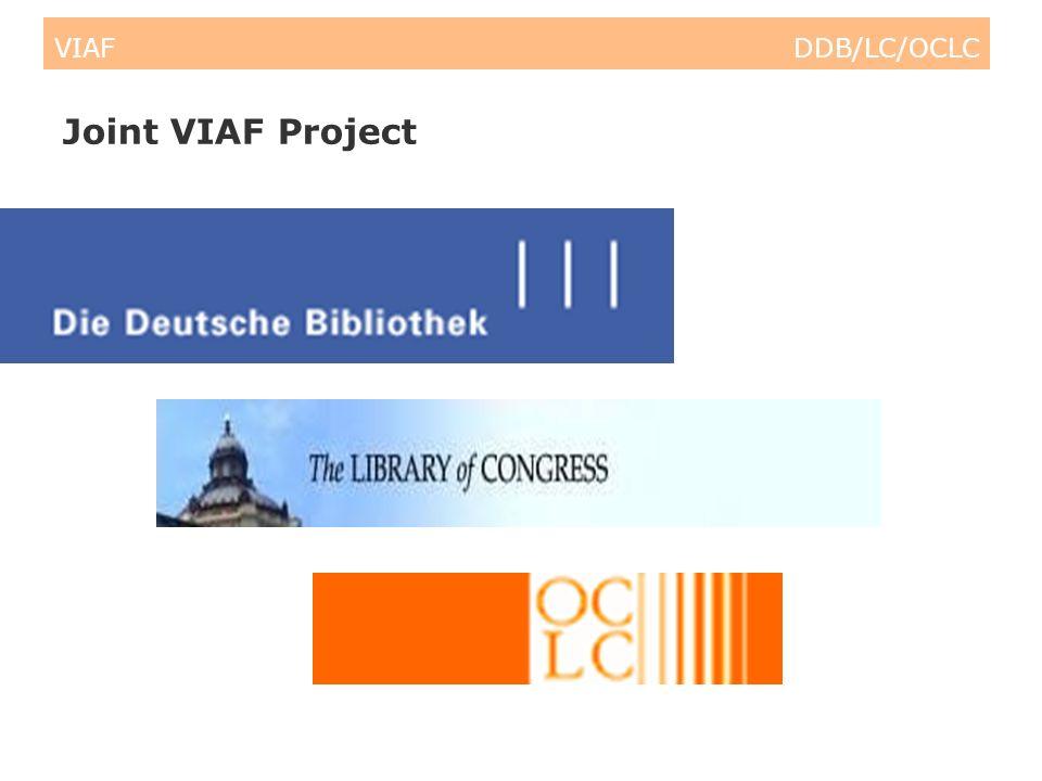 VIAF DDB/LC/OCLC Semantic Web Building Blocks End-user A&I controlled vocabularies (Library) authority files Other controlled vocabularies Ontologies