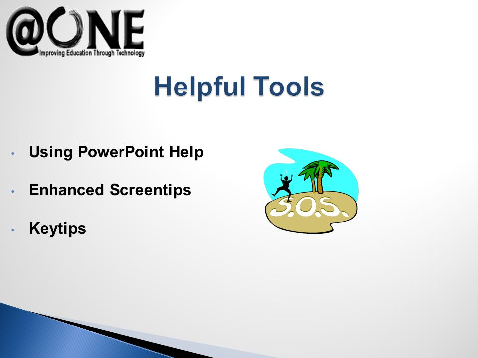 Using PowerPoint Help Enhanced Screentips Keytips