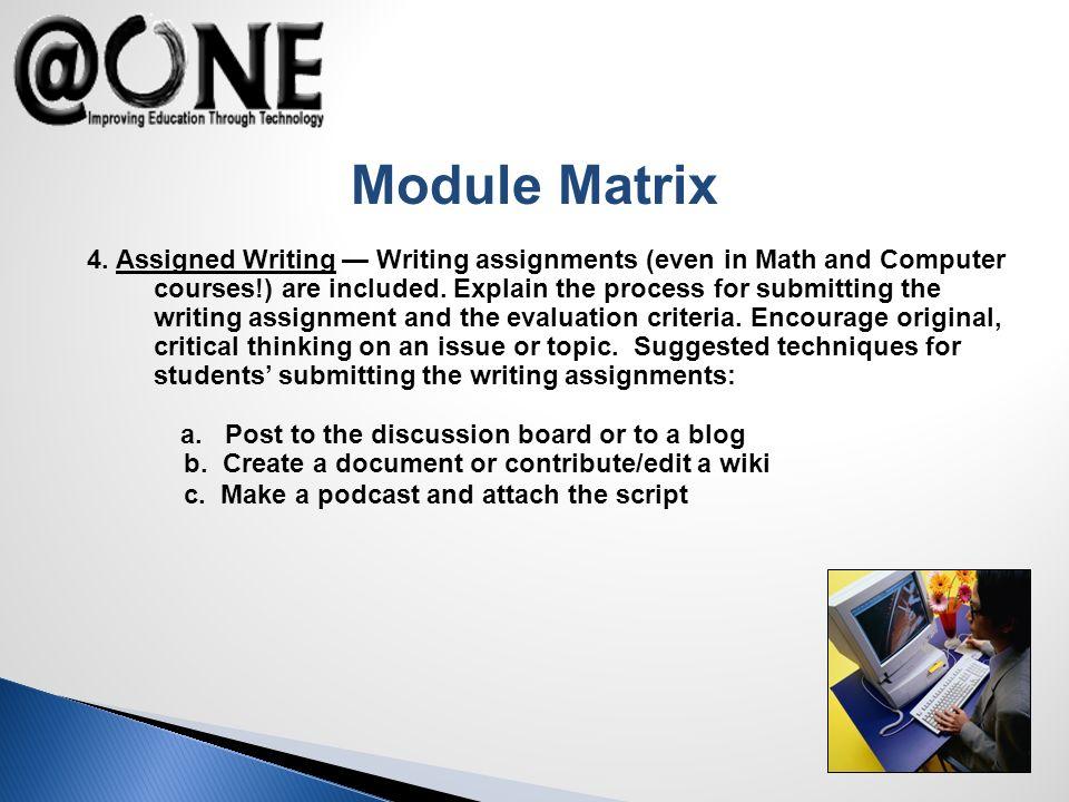 Module Matrix 4.