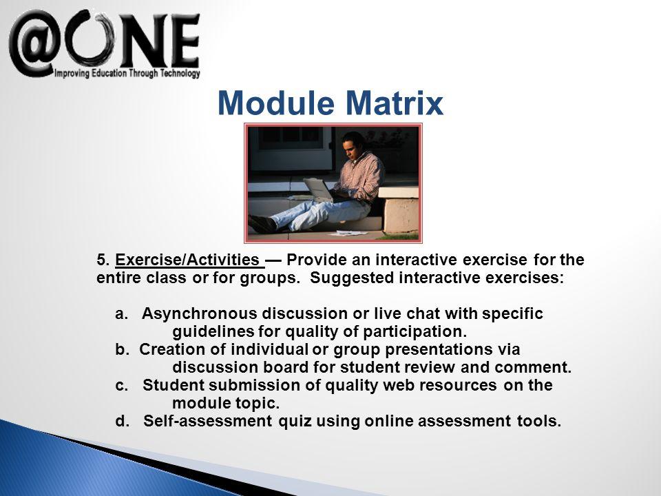 Module Matrix 5.
