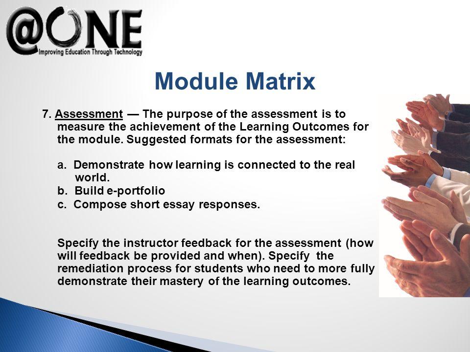 Module Matrix 7.