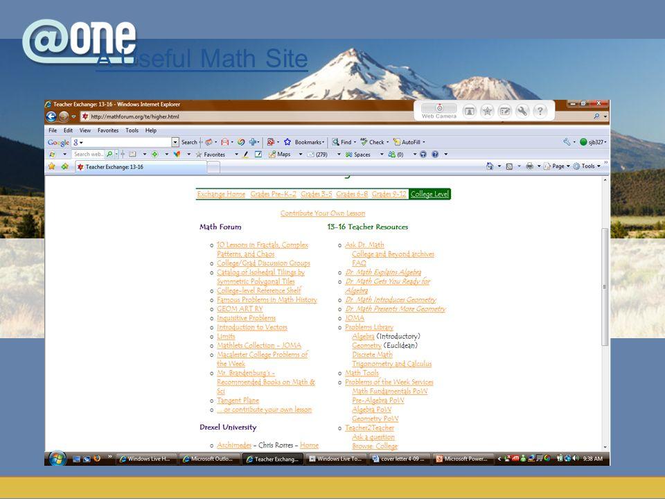A Useful Math Site
