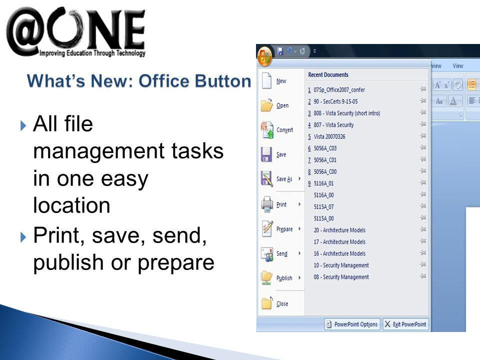 All file management tasks in one easy location Print, save, send, publish or prepare