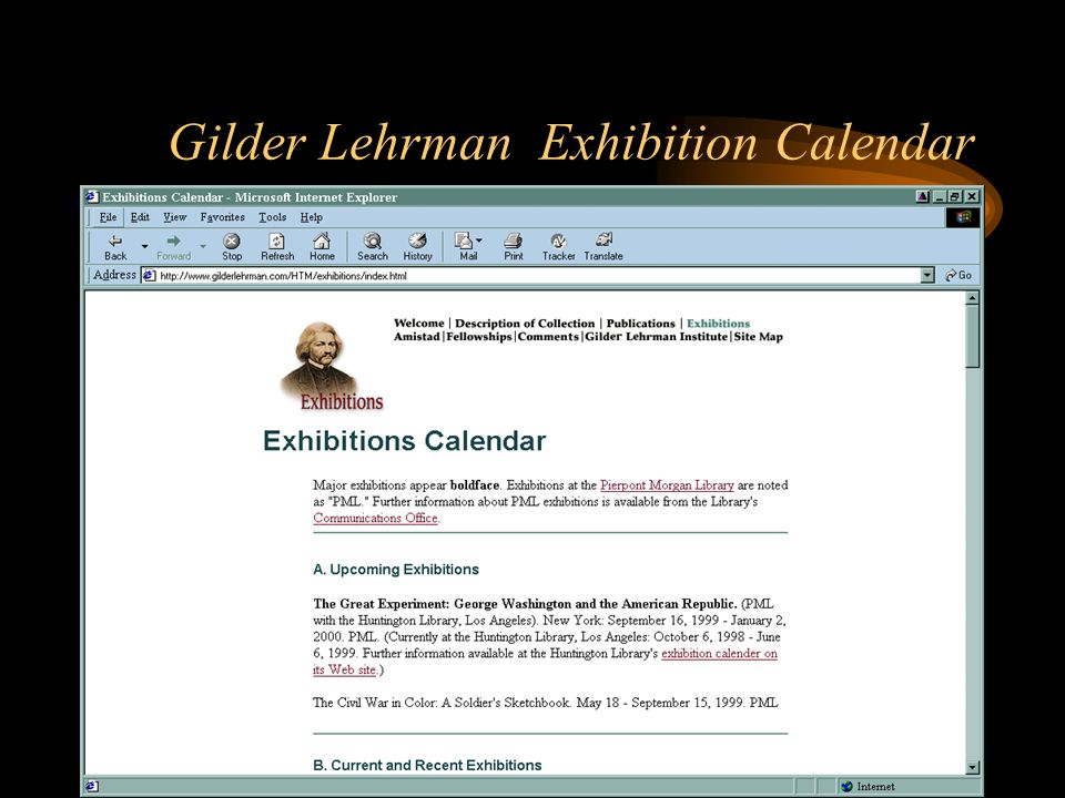 Gilder Lehrman Exhibition Calendar