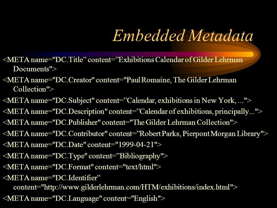 Embedded Metadata