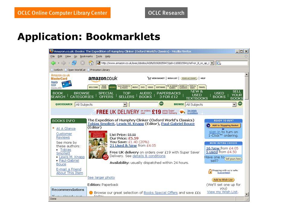 Application: Bookmarklets