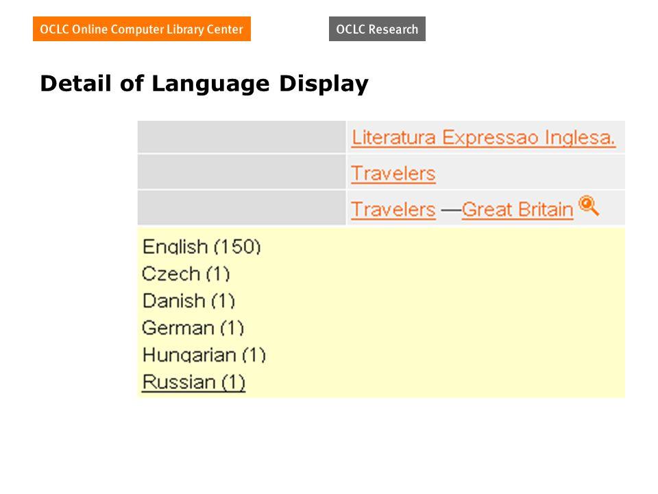 Detail of Language Display