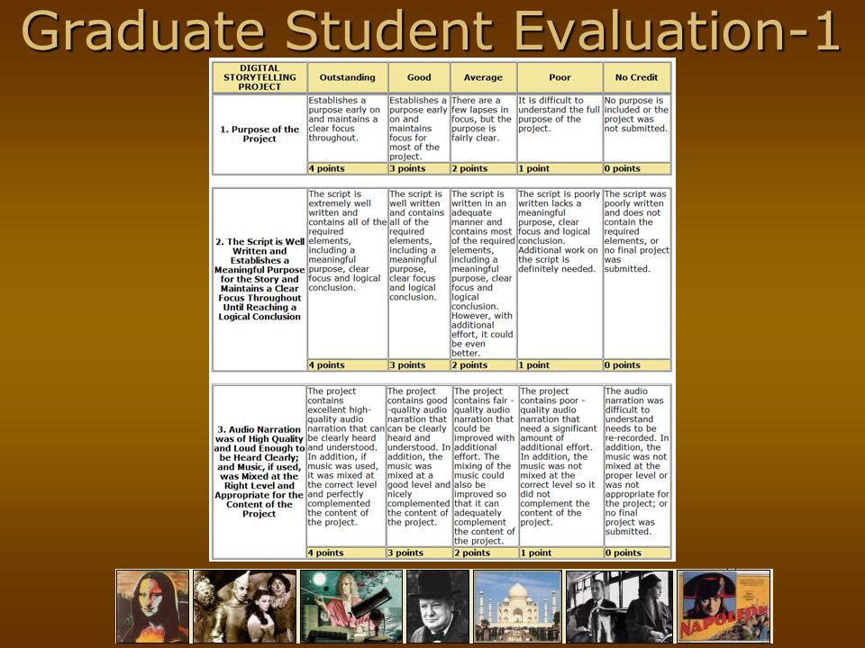 Graduate Student Evaluation-1