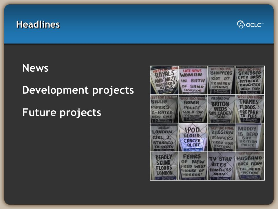 Headlines News Development projects Future projects