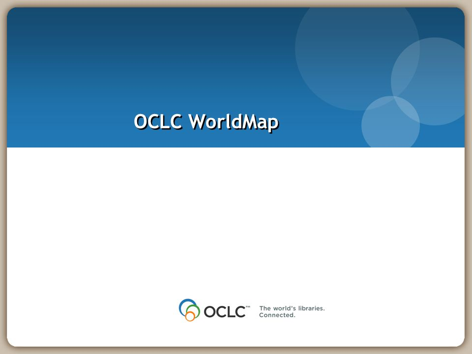 OCLC WorldMap