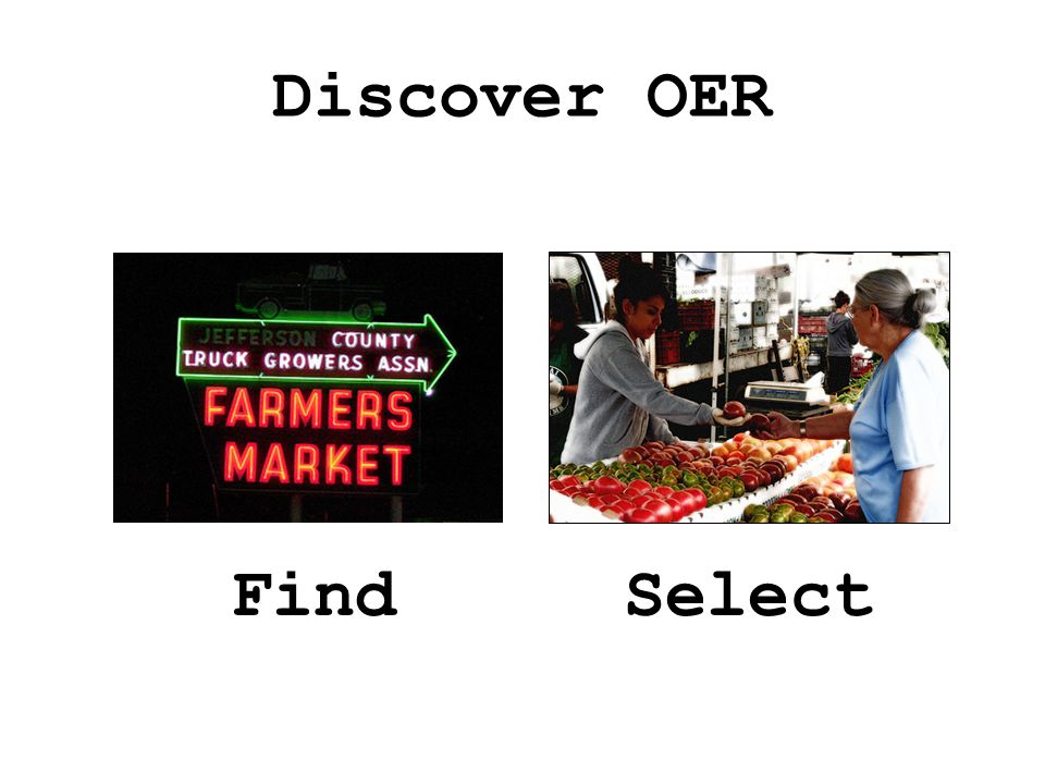 Discover OER FindSelect