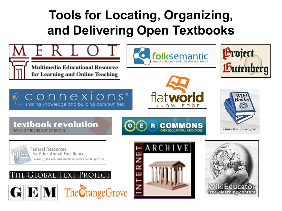 Tools for Locating, Organizing, and Delivering Open Textbooks