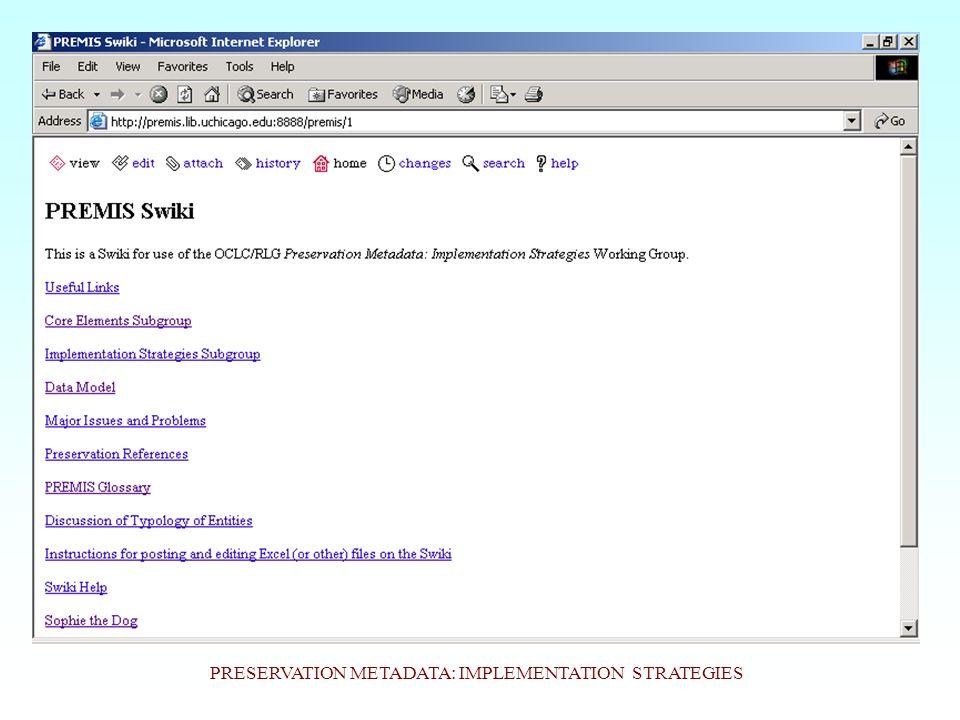 PREMIS Data Model