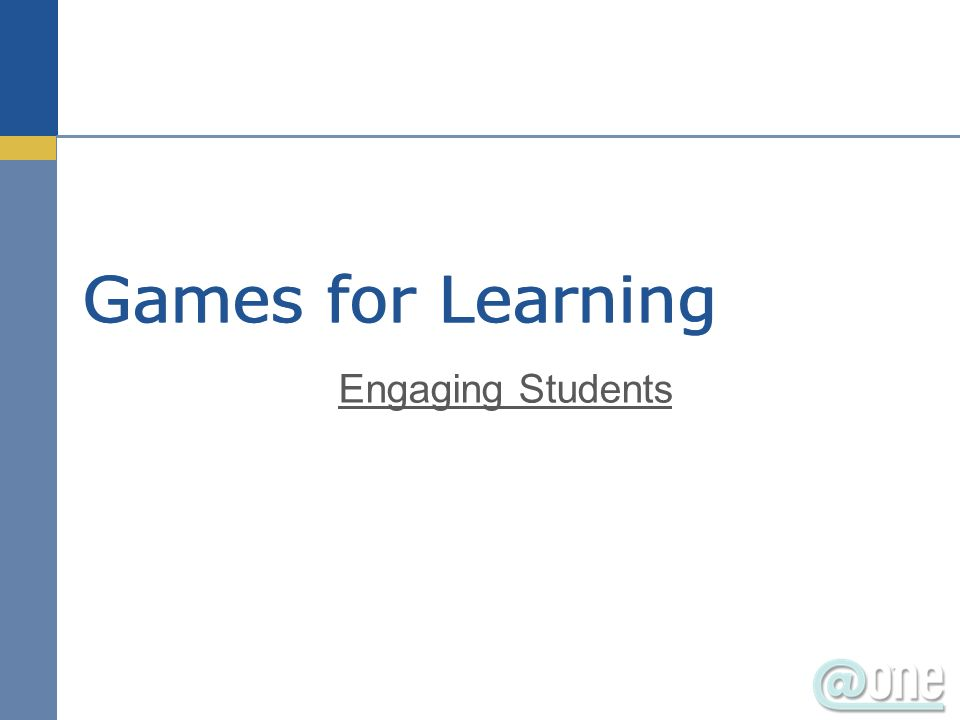 Games for Learning Engaging Students