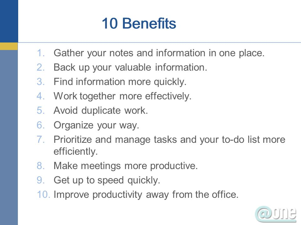 1.Gather your notes and information in one place.2.Back up your valuable information.