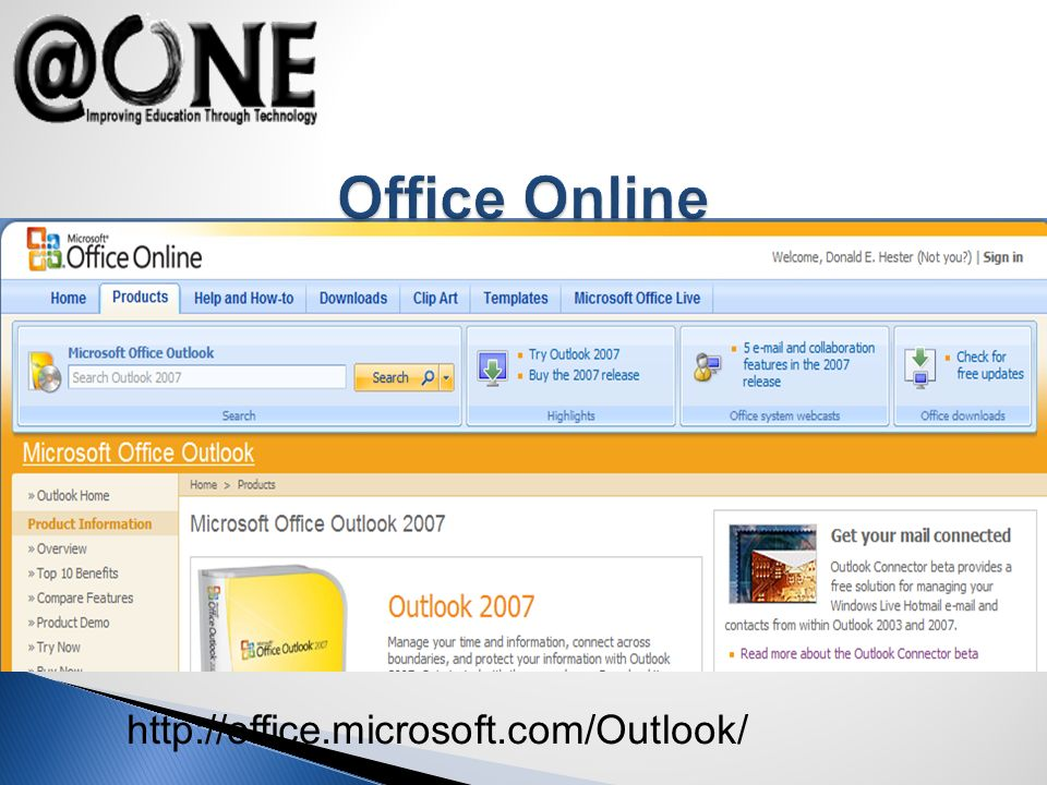 http://office.microsoft.com/Outlook/