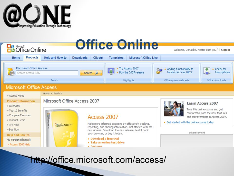 http://office.microsoft.com/access/