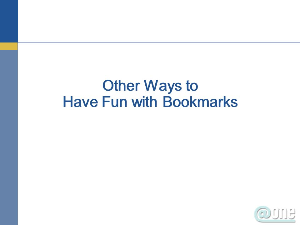 Other Ways to Have Fun with Bookmarks