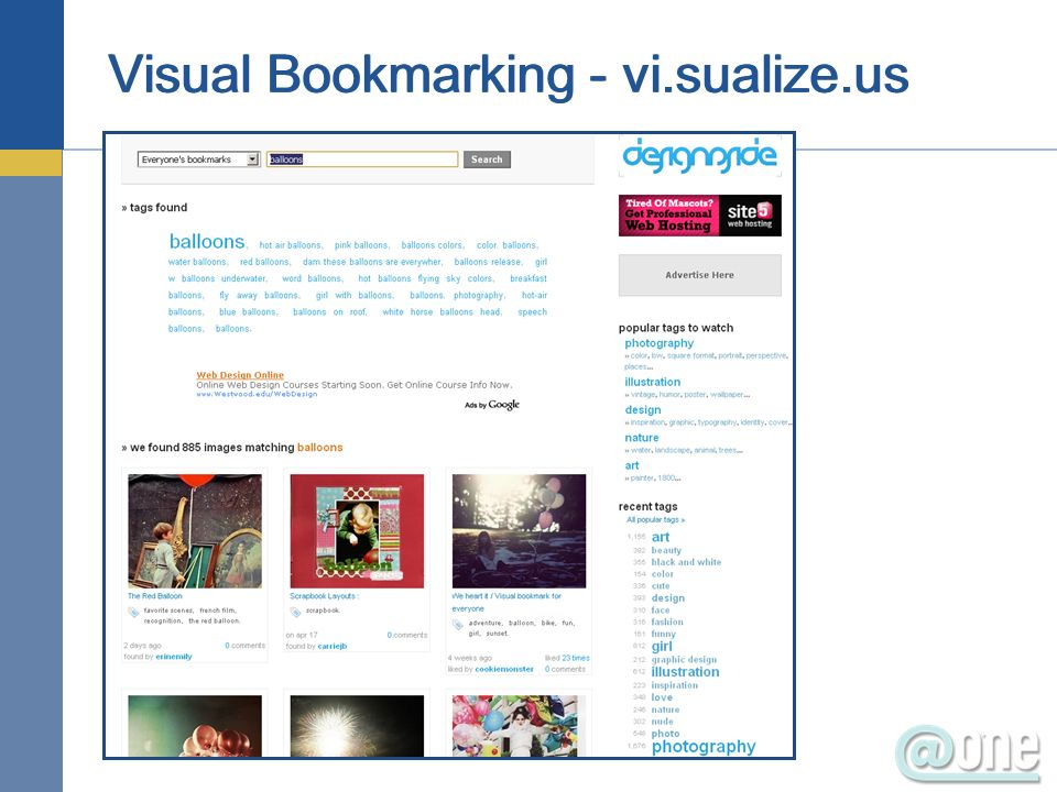 Visual Bookmarking - vi.sualize.us