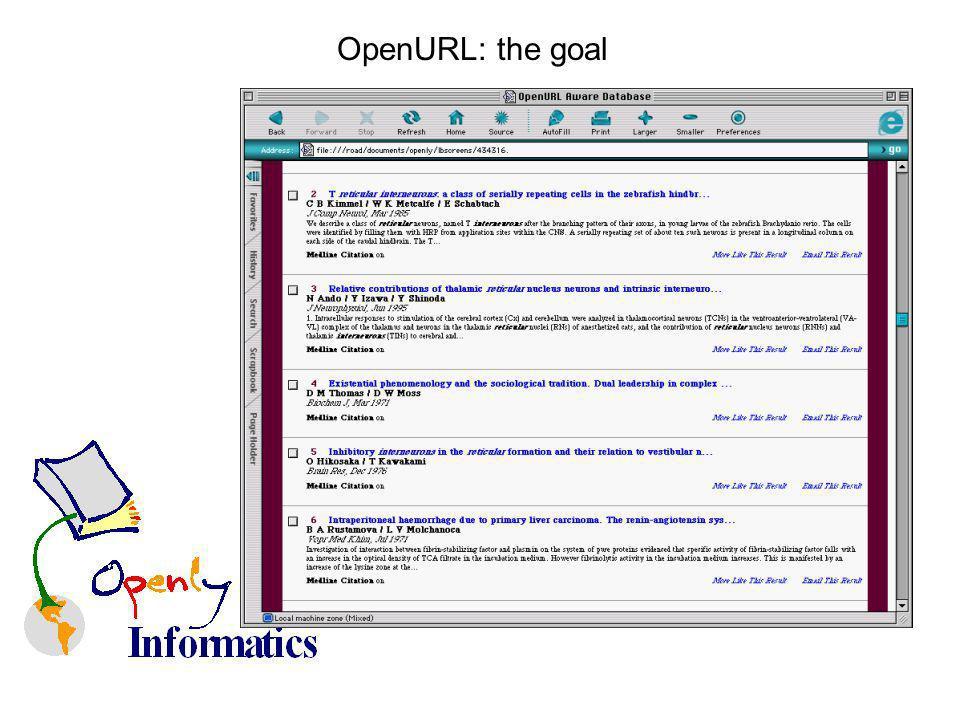 OpenURL: the goal