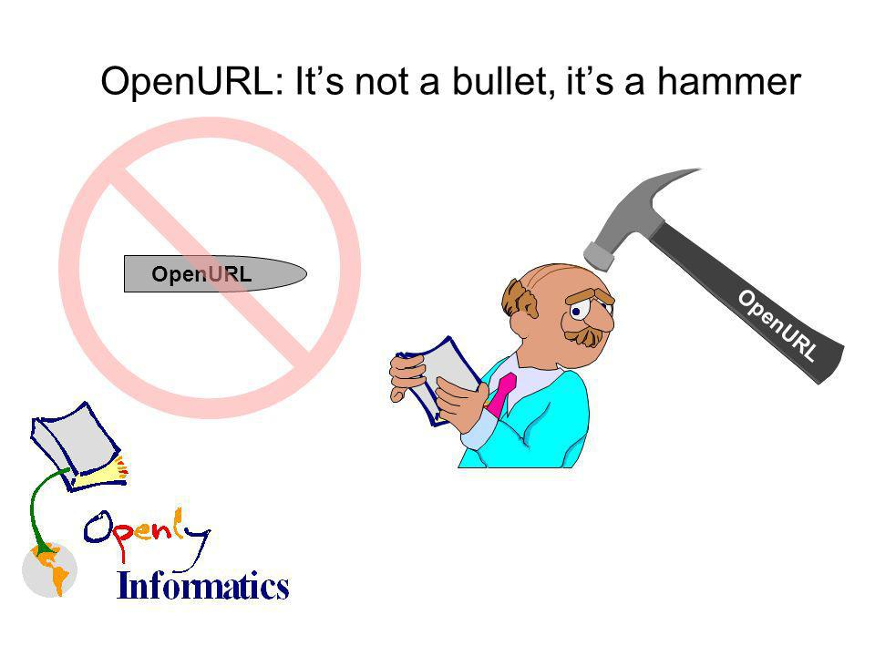 OpenURL: Its not a bullet, its a hammer OpenURL