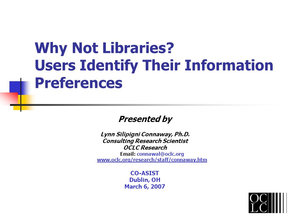 Why Not Libraries?...faculty use a variety of strategies for negotiating the digital morass.