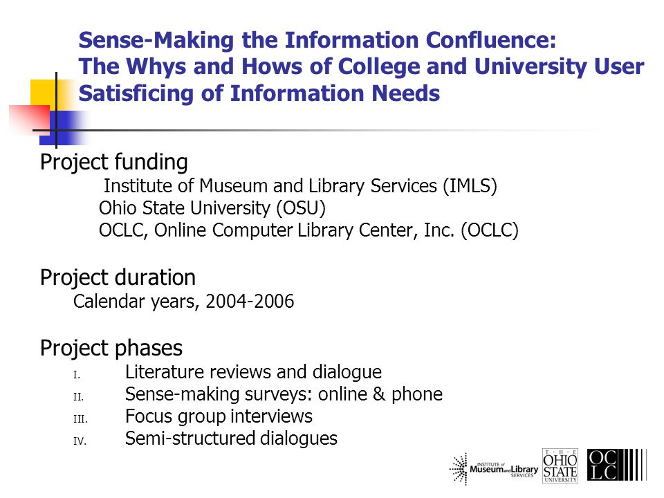 Emerging Themes: Library Used for research Desire ability to customize library portals Inclusion of recommender services Enhanced discovery services Databases, abstracts, and indexes 8% use electronic databases Do not perceive as library sources Unable to locate or access full-text copies of journals and books