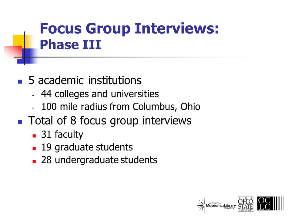 Did not use the library: Graduate Students Internet and Google Easy Databases Lexis-Nexis OhioLink Bookstores Amazon.com Personal library Human resources Professors Dad Peers Other experts These are not listed in order of the number of occurrences.