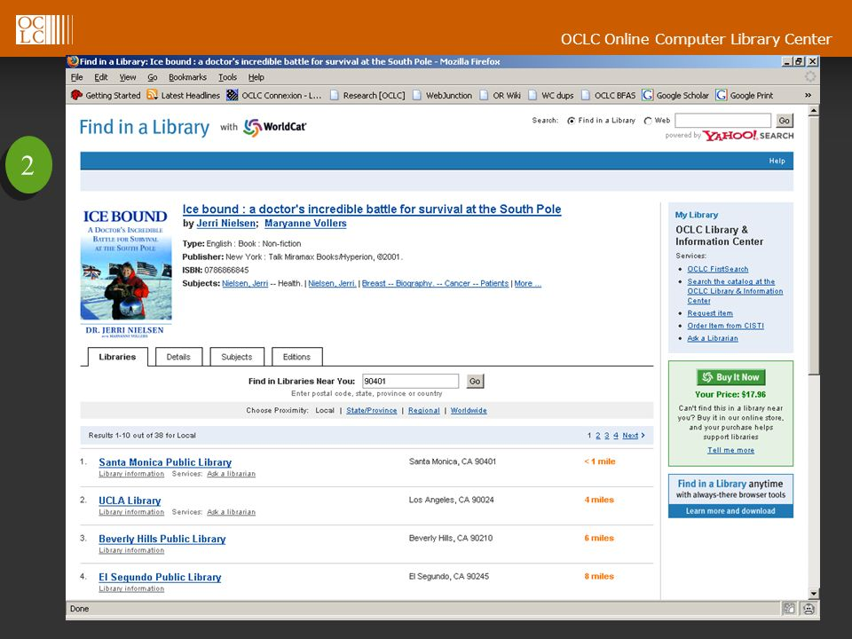 OCLC Online Computer Library Center 2 2