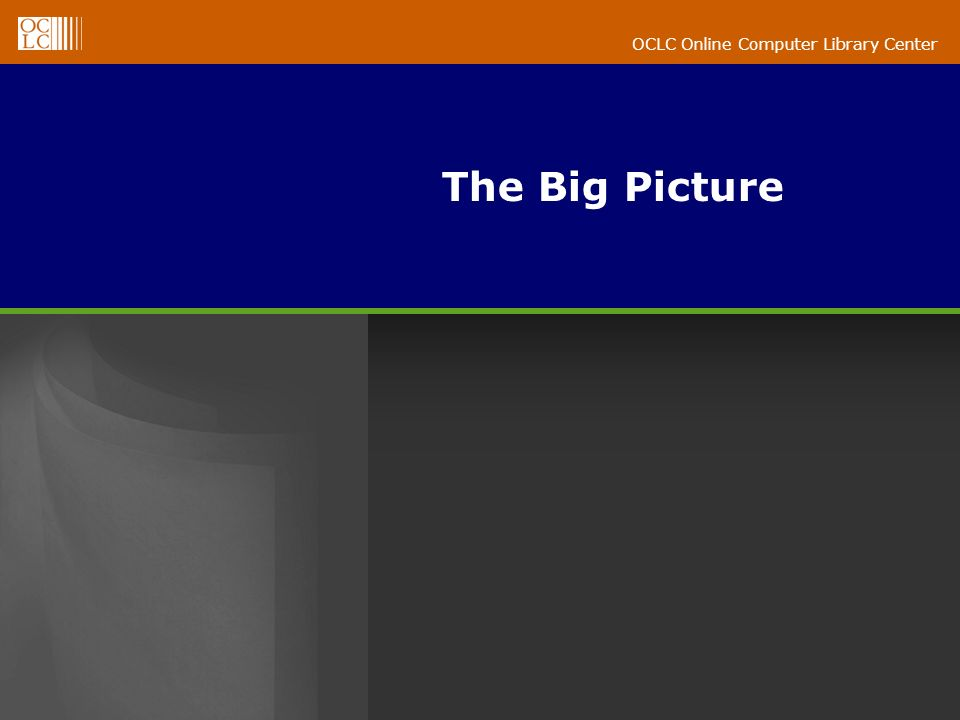 OCLC Online Computer Library Center The Big Picture