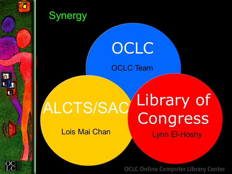 OCLC ALCTS/SAC Synergy Library of Congress OCLC Team Lynn El-Hoshy Lois Mai Chan