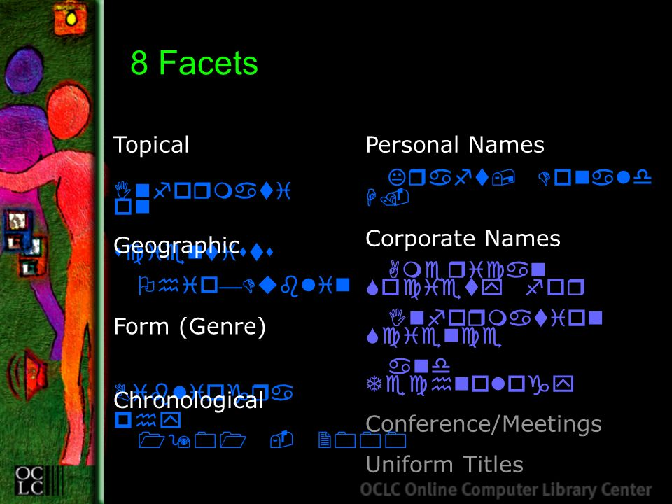 8 Facets Topical Informati on scientists Personal Names Kraft, Donald H.