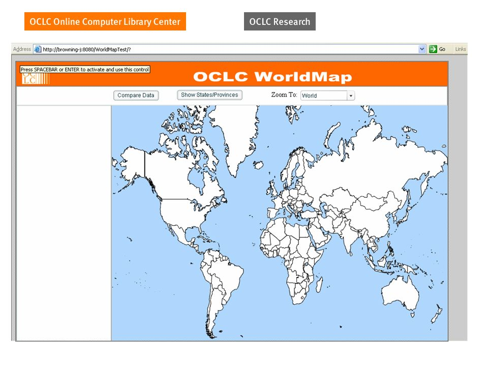 OCLC WorldMap TM
