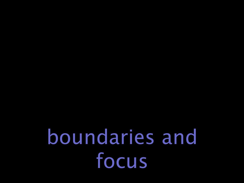 boundaries and focus