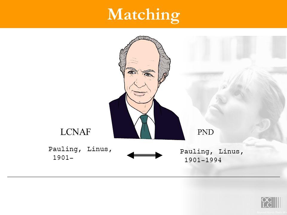 Matching LCNAF PND