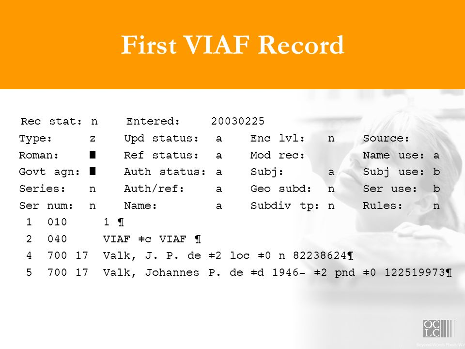 First VIAF Record