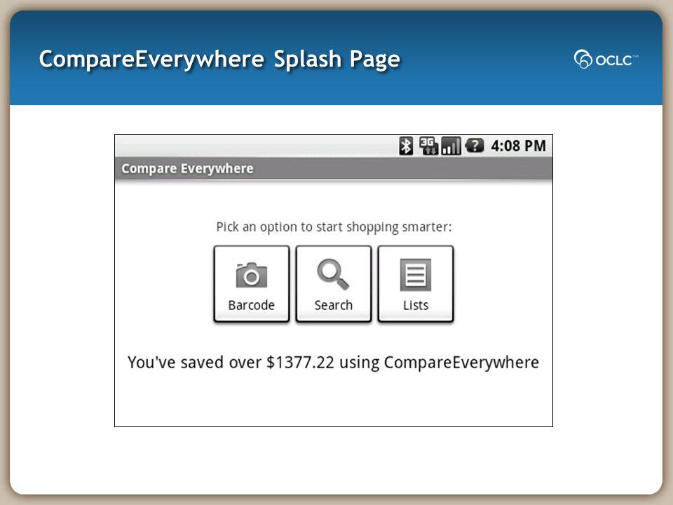 CompareEverywhere Splash Page