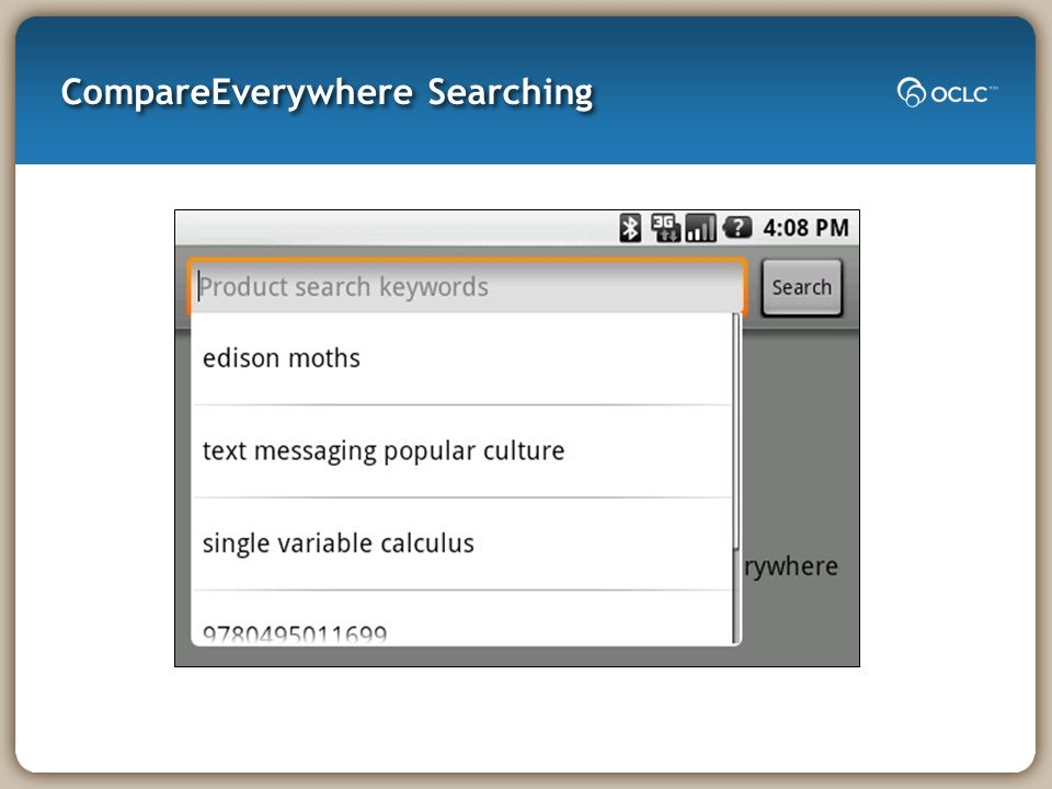 CompareEverywhere Searching