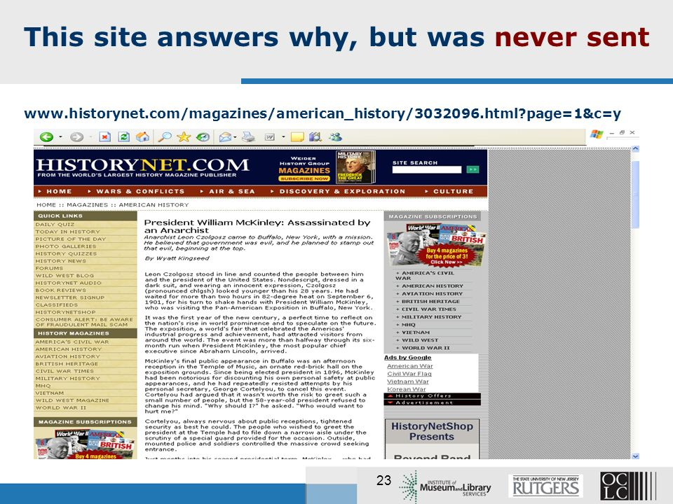 23 This site answers why, but was never sent   page=1&c=y