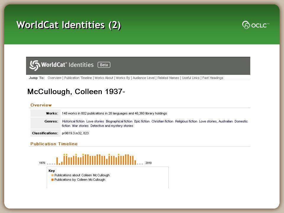 WorldCat Identities (2)