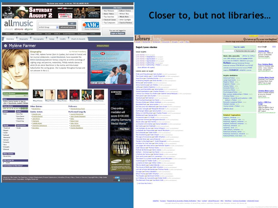 Closer to, but not libraries…
