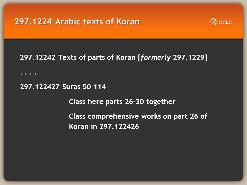 Arabic texts of Koran Texts of parts of Koran [formerly ]..