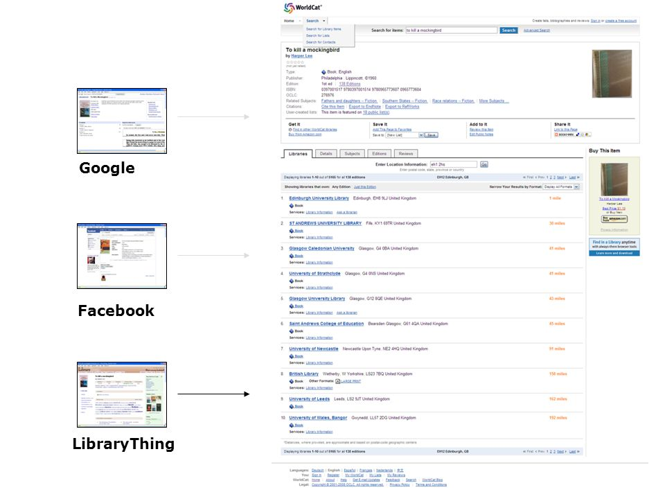 Facebook LibraryThing