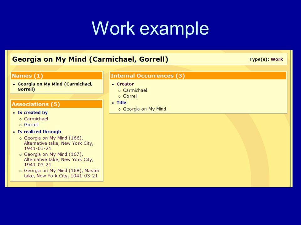 Work example