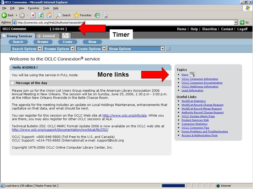 Timer More links