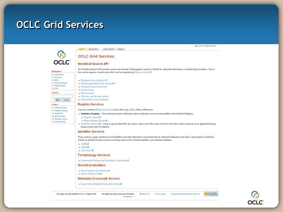 OCLC Grid Services