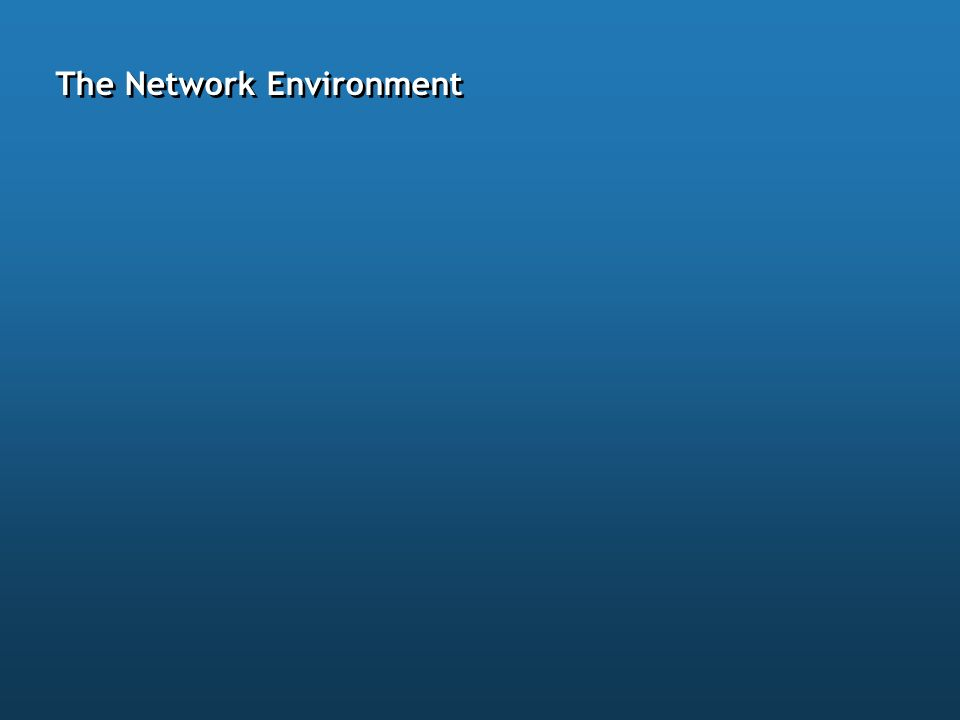 The Network Environment