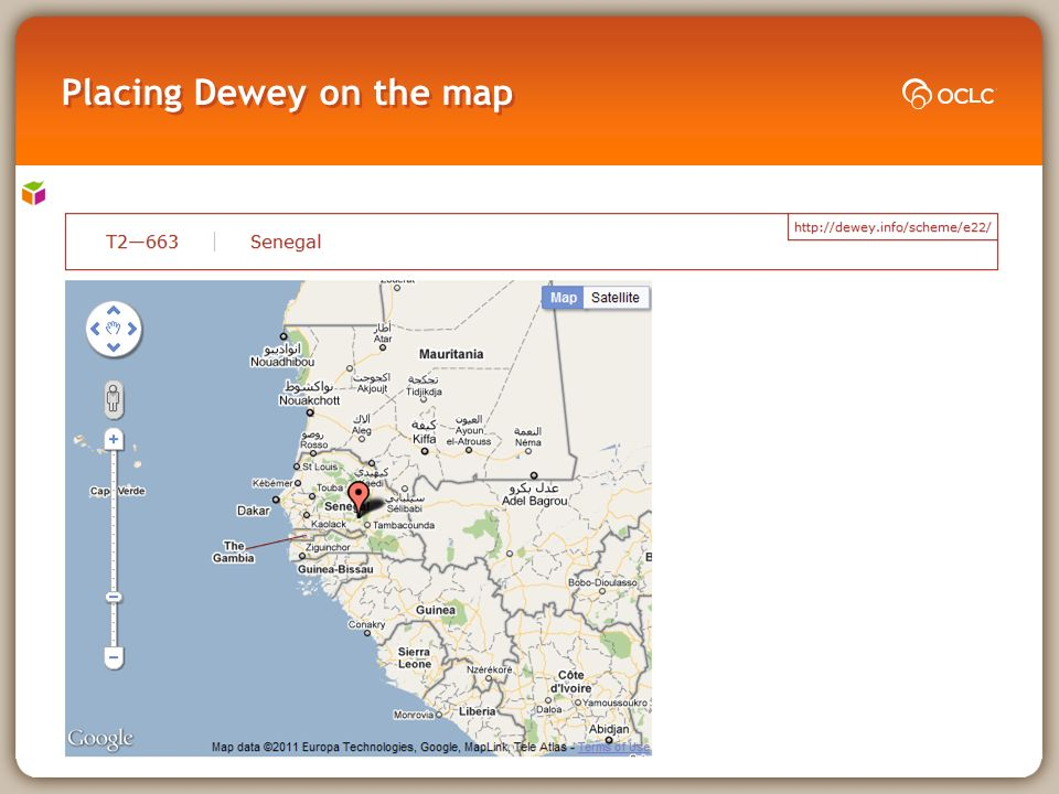 Placing Dewey on the map